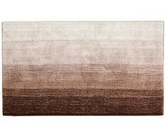 Dyckhoff 0928529200Colori - Tappetino da Bagno, 1500 g/m², 70 x 120 cm, 100% Cotone Organico, Marrone/Beige