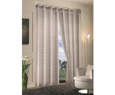 Home Collection STR116 Tenda Stripes, Poliestere, Naturale, 140x280 cm