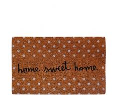 laroom Zerbino Motivo Home Sweet Home 40x70x1.8 cm Marrone