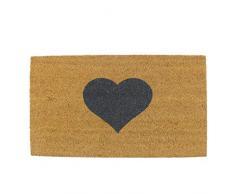 Maine Furniture Co, zerbino a forma di cuore, 40 x 70 cm, colore: marrone