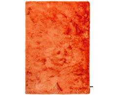 benuta Shaggy Hochflor Whisper Orange 80x150 cm | Langflor Teppich für Schlafzimmer und Wohnzimmer Tappeto, Fibra Sintetica, 80 x 150 cm