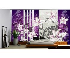Delester Design 1203-P8 - Adesivo murale a Tema Floreale, Colore: Viola, Dimensioni: 254 x 368 cm