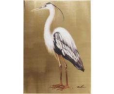 KARE Quadro Ritoccato di Olio Heron Left, Oro, 70 x 3.5 x 50 cm