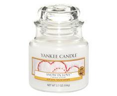 Yankee Candle 1249717E Snow in Love Candele in Giara Piccola, Vetro, Bianco, 6.4X6.2X8.6 Cm, fragranze naturali