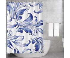 Bonamaison Tende da Doccia, Poliestere, Multicolore, 155x220 cm
