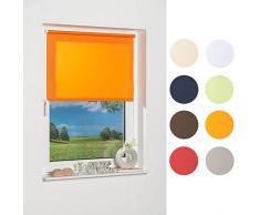 K-home Tenda a Pannello 541831–3Klemmfix Mini, Arancione Luce Diurna, plastica, Tessuto, Arancione, 80 x 150