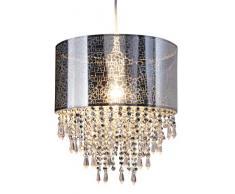 Naeve Leuchten, Lampada a sospensione con pietre in acrile, 120 x 120 x 30 cm