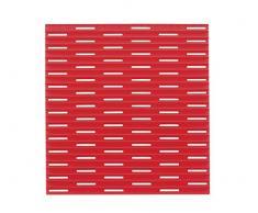 InterDesign Lineo Tappetino Lavandino, Plastica, Rosso, 30.5x28x30.5 cm