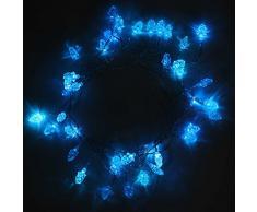 WeRChristmas - Ghirlanda luminosa con 40 LED, con cavo di 1,8 m, per decorazioni natalizie, colore: blu mirtillo