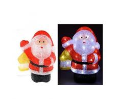 Babbo Natale luminoso a 48 LED, per esterni