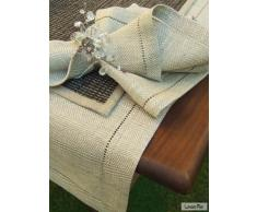 LinenMe 1-Pezzo 40 x 250 cm runner da tavolo lino Emilia, colore naturale
