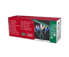 Konstsmide 6303-500 / Catena di miniluci LED / 50 diodi Colorati / 230V Interno/Cavo Verde