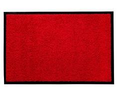 Andiamo 700625 - Zerbino cattura sporco, tinta unita, rosso, 60 x 90 cm