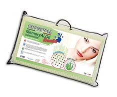 V.I.P. Very Important Pillow V.I.P. Cuscino Memory Foam con Trattamento Aloe Guanciale 42 x 72 x 11, Made in Italy, Bianco Saponetta con Foratura Passante, Viscolattice Vera