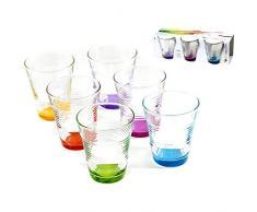 Pasabahce 95907 Vetro Vita Set 6 Bicchieri, 10.5 Cl, Multicolore, 6 Unità