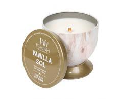 Woodwick Line Artisan Candela Vanilla sol, Cera, Multicolore, 9.6x9.6x9.6 cm, 4 unità