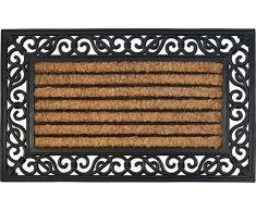 ID MAT 4575 Coral 85016 - Zerbino in Fibra di Cocco/Gomma, di Forma Rettangolare, Motivo Naturale, 75 x 45 x 1,8 cm, Colore: Beige
