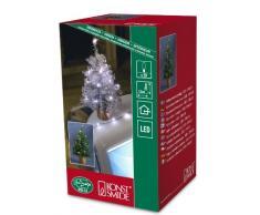 Konstsmide - Albero di Natale Artificiale con Decorazioni e 20 LED Verdi, Dotato di Cavo USB