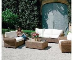 HOMEGARDEN Divano in fibra naturale da arredo giardino esterno 2 posti