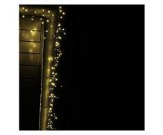 CLGarden luce catena pioggia gelata ledes R200Â LED bianco caldo cavo tenda luminosa per interno e esterno Attivo lunghezza cavo 4Â meter colore verde 1623