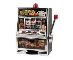 Home in Rombo Salvadanaio Slot Machine 31 ARO e Decorazioni Casa, Multicolore, 31 cm