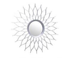 DCASA - Specchio da parete in argento, decorazione per la casa, unisex, per adulti, multicolore (multicolore), unico