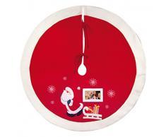 ZEP S.r.l Tree Skirt–faldilla per Albero di Natale, Tessuto, Colore: Rosso/Bianco
