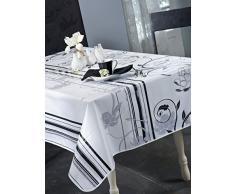 CALITEX Tovaglia Cerata, Bianco, Quadrata, 180 x 180 cm