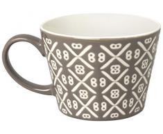Excelsa Etnika Tazza Jumbo 415 ml, Porcellana, Grigio, 11x11x8 cm