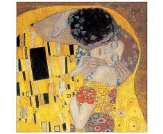 Artopweb EC40158 Pannello Decorativo, Klimt-Il Bacio Detail, Legno, Multicolore, 30 x 1.8 x 30 cm