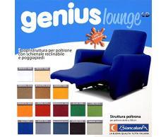 Biancaluna Copripoltrona per Poltrone Reclinabili Relax Genius Lounge Copridivano 1 Posto (Bianco)