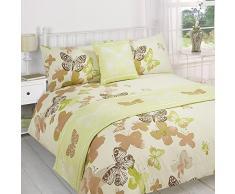 Dreamscene, lussuoso letto in una borsa, Poliestere, verde/marrone/naturale, super-king