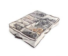Relaxdays Cassettone Scatola per le Scarpe da 12 Scomparti, Nylon, 70X55X15 cm, Multicolore