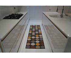 Tappeto antiscivolo in lavatrice con chiave greca, triangolare, design a diamanti, per soggiorno, cucina, colore: nero, grigio, 120 x 160 cm, Oro-ovale, 80x300cm(26 x910)