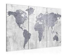 Quadro Mappa del mondo 120 x 80 cm - XXL Immagini Murale Stampa su Tela Decorazione da Parete Pronte per lapplicazione - 104331c