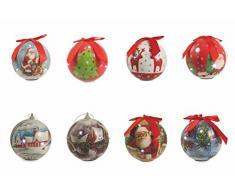 Galileo Casa 2408978 Palla di Natale LED Assortita, Polistirolo, Multicolore, 24 x 10 x 10 cm