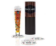 RITZENHOFF 1010234Â Black Label Bicchiere da Birra, Vetro, Multicolore, 6.5Â x 6.5Â x 25Â cm