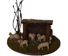 Alfred Kolbe Krippen AM 10, Set per presepe Composto da ovile con Pecore, per Statuette con Pecore da 5-7 cm, Multicolore (Mehrfarbig)