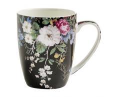 Maxwell & Williams WK Mug 400 Ml Midnight Blossom Tavola, Porcellana, Multicolore, Unica