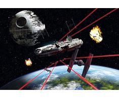 Komar Star Wars Millennium Falcon, Carta da Parati, Multicolore, 8 Pezzi