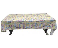 Idea Nuova iStyle Full Allover Tovaglia, Cotone, 140 x 240 cm, Multicolore