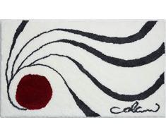 Grund 18-4040 - Tappeto da bagno, design di Luigi Colani, 100% poliammide supersoft, bianco, 80 x 150 cm