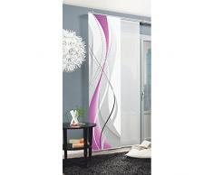 Home Fashion Carlisle Tenda a Pannello, Poliestere, Berry, 245 x 60 cm