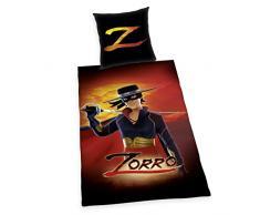 Herding 4421202050Â Zorro Set Copripiumino singolo e federa, Cotone, nero, 135Â x 200Â x cm