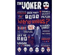 DARK KNIGHT DC Comics, maxi poster The Joker, con citazioni, in legno, (lingua italiana non garantita)