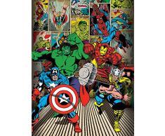 60 x 80 cm Marvel Comics Qui Sono degli Eroi Tela Stampa
