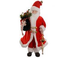 WeRChristmas Statuetta di Babbo Natale con sacco, 40 cm, decorazione natalizia