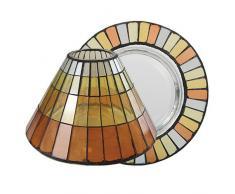 Yankee candle 1521334 Warm Summer Night Mosaic Paralume e piatto piccolo, Vetro, Multicolore, 10.1x10.1x9.6 cm
