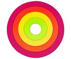 ZAK Designs 2073-900 - Set da 4 sottopiatti, Forma Rotonda, impilabili