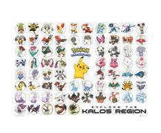 GB eye LTD, Pokemon, Kalos Region, Maxi Poster, 61 x 91,5 cm
